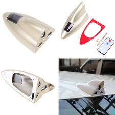 Car Roof Solar Antenna Remote Control Signal Radio LED Shark Fin Warning Lights