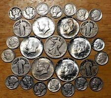 Mixed Lot Us Silver Coins $6.30 Face Value See Photos