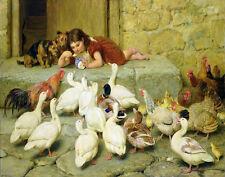 Riviere Briton Feeding The Animals Print 11 x 14   #3827