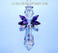 m/w Swarovski 44mm Big Ab Bermuda Blue Angel SunCatcher Lilli Heart Designs