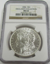 1886 Morgan Silver Dollar * NGC MS62 * Mcclaren Collection *
