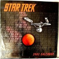 STAR TREK 2003 CALENDER>NEW WITH WRAPPER>**FREE U.S. SHIPPING**