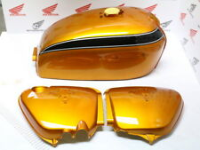Honda CB 750 Four K2 Fuel Tank and Side Cover Color Candy Gold Custom Paint Set