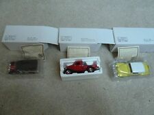 LOT OF 3 NATIONAL MOTOR MUSEUM MINT CARS AND TRUCKS 1:32 SCALE DIE CAST NEW