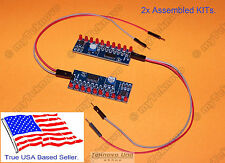 x2 LED Light Chaser Sequencer Follower Scroller Assembled KIT NE555 CD4017 USA