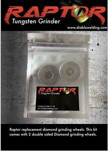 Raptor Tungsten Grinder replacement grinding wheels ( 2 Pack )