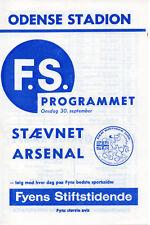 Staevnet V Arsenal 30/09/1964 Friendly