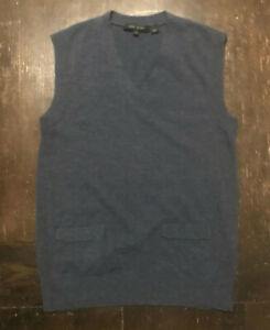 MARC JACOBS COLLECTION Mens Blue Cashmere Sweater Vest S Italy $600