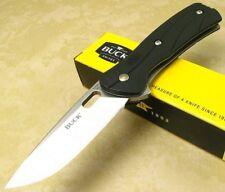 BUCK USA MADE Vantage Select Black Nylon Handle Folding Blade Pocket Clip Knife