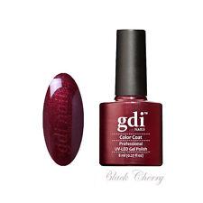 gdi nails Salon Quality UV/LED Soak Off Gel Nail Gel Polish F15 - Black Cherry