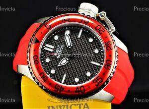 ➤Invicta Men 50mm PRO DIVER Quartz MEDUSA HOT ROD RED BEZEL Silicone Strap Watch