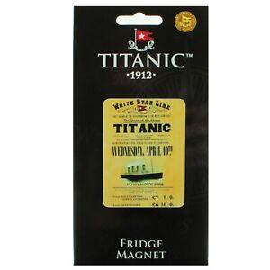 Titanic Rates Collectors Metal Fridge Magnet (sg)