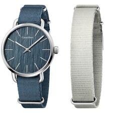 Calvin Klein anche Quadrante Blu Cinturino in TESSUTO BLU MEN'S WATCH K7B211WL prezzo consigliato £ 175