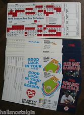(32) 1986 Boston Red Sox Pocket Schedules (Wade Boggs pictured)