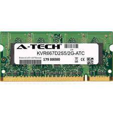 2GB DDR2 PC2-5300 667MHz SODIMM (Kingston KVR667D2S5/2G Equivalent) Memory RAM