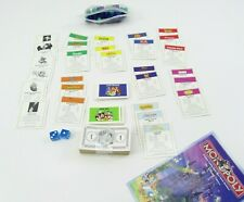 Disney Monopoly 2001 Pieces Parts Money Currency Cards Houses Instructions Dice