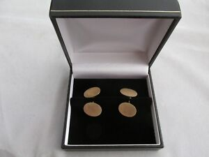 Antique Australian 15ct Gold Cufflinks Duggin Shappere and Co Can be Engraved