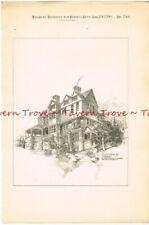 #9 1889 heliotype NEW YORK Tuxedo Cottage Renwick Aspinwall Russell Architect