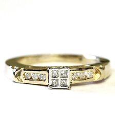 14k yellow gold .21ct I1 I princess diamond engagement ring 4.7g vintage estate