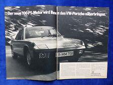 VW Porsche 914 2,0 - Werbeanzeige Reklame Advertisement 1972 __ (673