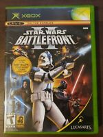 Star Wars: Battlefront II (Microsoft Xbox, 2005) Scratched Works 360 Compatible