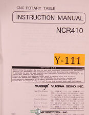 Yukiwa Seiko NCR410, CNC Rotary Table, Instructions Mnaual 2000