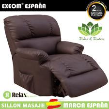 Sillon Relax Con Masaje 10 Funciones y Calor Lumbar Relax&Restore® Chocolate