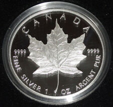 Canada 1 Oz Silber Maple Leaf 1989 Sonder - Jubiläumsausgabe in Polierter Platte