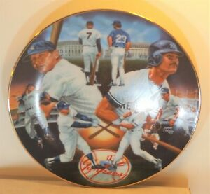 """MICKEY MANTLE 1995 Sports Impressions """"Yankee Tr..."""" 8.5"""" #d Edition Plate #1297"""