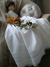 Antique French Baby Christening Gown/Robe~Hand worked Gossamer Lawn Cotton/lLace