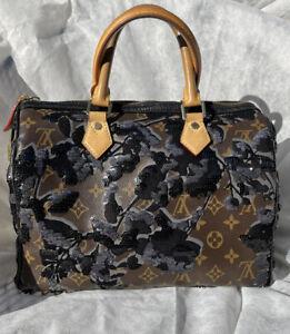 Authentic Louis Vuitton Fleur De Jais Sequin Speedy 30 Limited Edition 2010