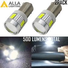 Alla Lighting BA9S Super Bright BA9 53 57 189 Dome Light Bulb|Map 6000K White 2x
