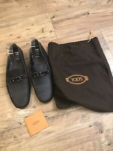 Todd's Black Leather Men's Driving Shoes Size 9.5