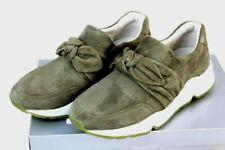 GABOR Schuhe komfort Slipper Sneaker Veloursleder oliv Gr 39 40 40,5 G NEU Y50