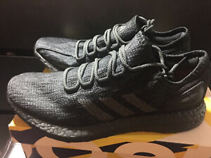Adidas Pure Boost Triple Black US Size Men 9.5 Brand New In Box DS