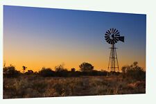 Australia  windmill outback Landscape canvas poster  art Print licensed image