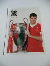 Liverpool FC Steven Gerrard leggenda 1978 finale di Coppa Europa di vincere RARO Biglietto foto