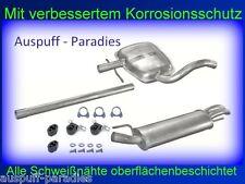 Abgasanlage Auspuff  VW Golf III 1.9 TDi Limousine (1H1) & Cabriolet (1E7) +Kit