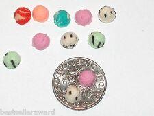 5pc Miniature dollhouse tiny flatback Christmas ice cream scoop candy food 5-6mm