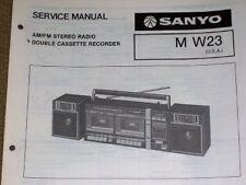 Sanyo M-W23 Radio Cassette Recorder Service/Part Manual