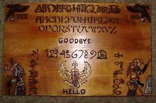 "hand made wooden ouija spirit talking board ""Egyptian"""
