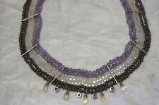 New, PJM Sterling Silver Gemstone strands., Amethyst, Citrine, Garnet, w/charms