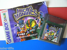MICRO MANIACS + INSTRUCTION BOOKLET - GAME BOY COLOUR - GBC6