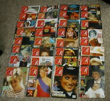 32 issues of Royalty Monthly Magazine 1985 - 1989 Princess Diana. Vol 8 Complete