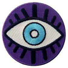 Embroidered Sew On Iron On patches BADGES Appliques Patch BACK Biker Evil Eye