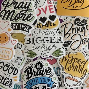 100 pcs Motivational Phrases Quotes Waterproof Stickers For Diy Laptop