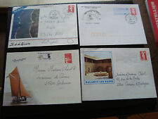 FRANCE - 4 enveloppes 1991 1992 1995 1997 (cy50) french