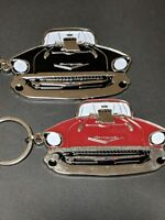 "57 1957 Chevy Hot Rod Keychain(great detail)your choice ""red or black"" (F4)"