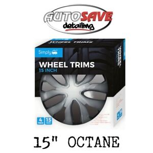 "Wheel Trim Cover Octane 15"" Wheel Cover Set Of 4 SWT142"