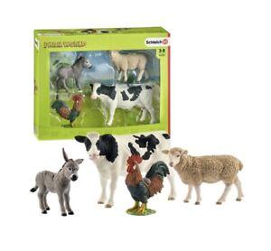 Schleich FARM WORLD starter set - Cow, Rooster, Donkey Sheep